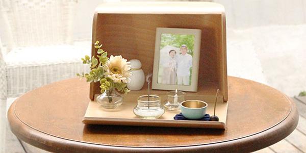 洋風ミニ仏壇セット_やさしい時間 祈りの手箱(ナチュラルセット)