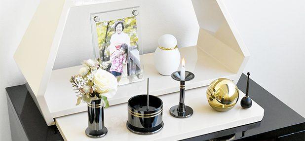 自宅でご遺骨を供養する、新しい形の祈りのステージ・ミニ仏壇風はマンションにも現代のインテリアにも馴染むオシャレなお仏壇