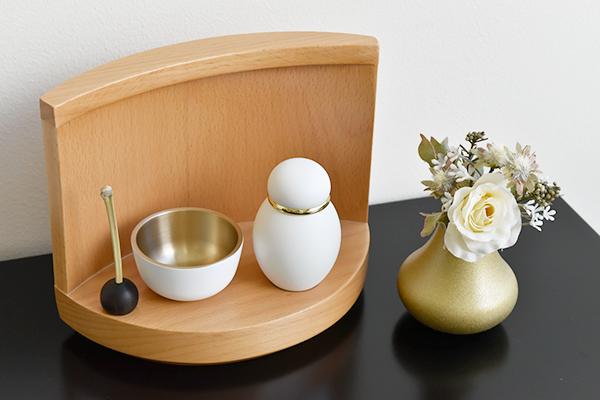 ステージタイプ ミニ仏壇   祈りのステージ・はるか(木製台・オープンタイプ)