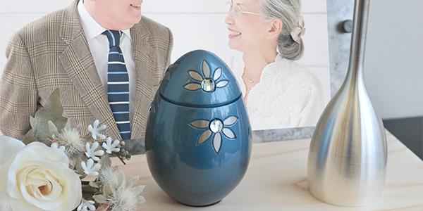 ご遺骨を自宅やお手元で供養をしたい気持ちを叶える、手元供養のためのおしゃれでかわいいミニ骨壷です。