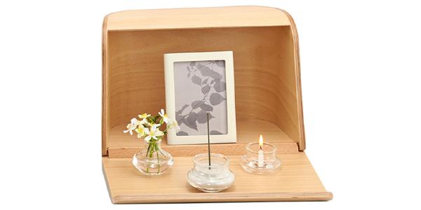 ミニ仏壇|やさしい時間 祈りの手箱|ナチュラル(仏具セット)