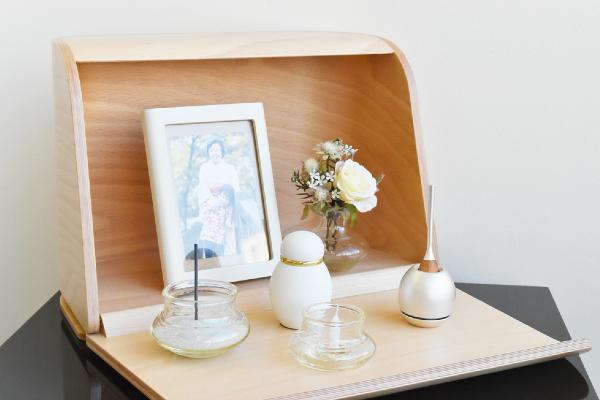 ミニ仏壇セット|祈りの手箱ナチュラル・チェリンセット