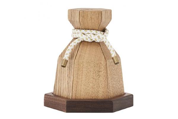 ミニ骨壷|結びの木壺(こつぼ)お包み(ナチュラル)