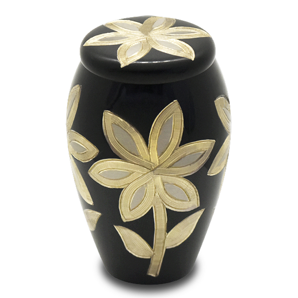 ミニ骨壷|グランブルー|サンフラワー(真鍮製)