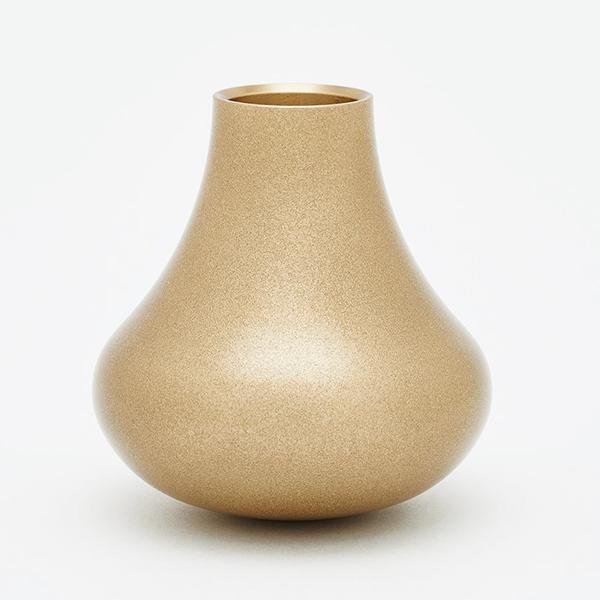 ミニ仏壇の仏具|花立|花瓶|虹シリーズ・花HANA|真鍮(金砂)
