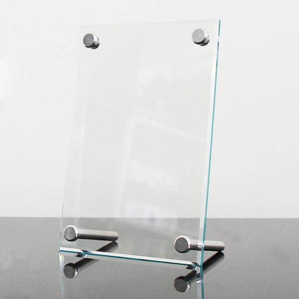 手元供養の写真立て|メモリアルフォトフレーム(クリア・ガラス風)