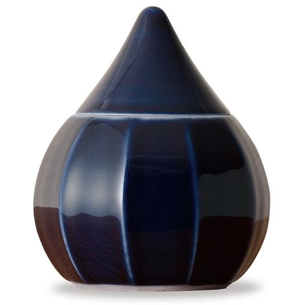 ミニ骨壷|蕾・艶シリーズ|瑠璃(豊泉窯・磁器製)