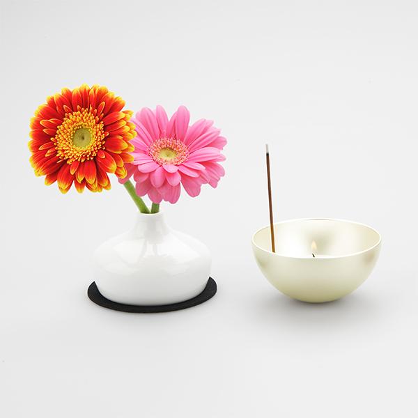 仏具セット ミニ仏壇の仏具 Cheringチェリング(シルバー)