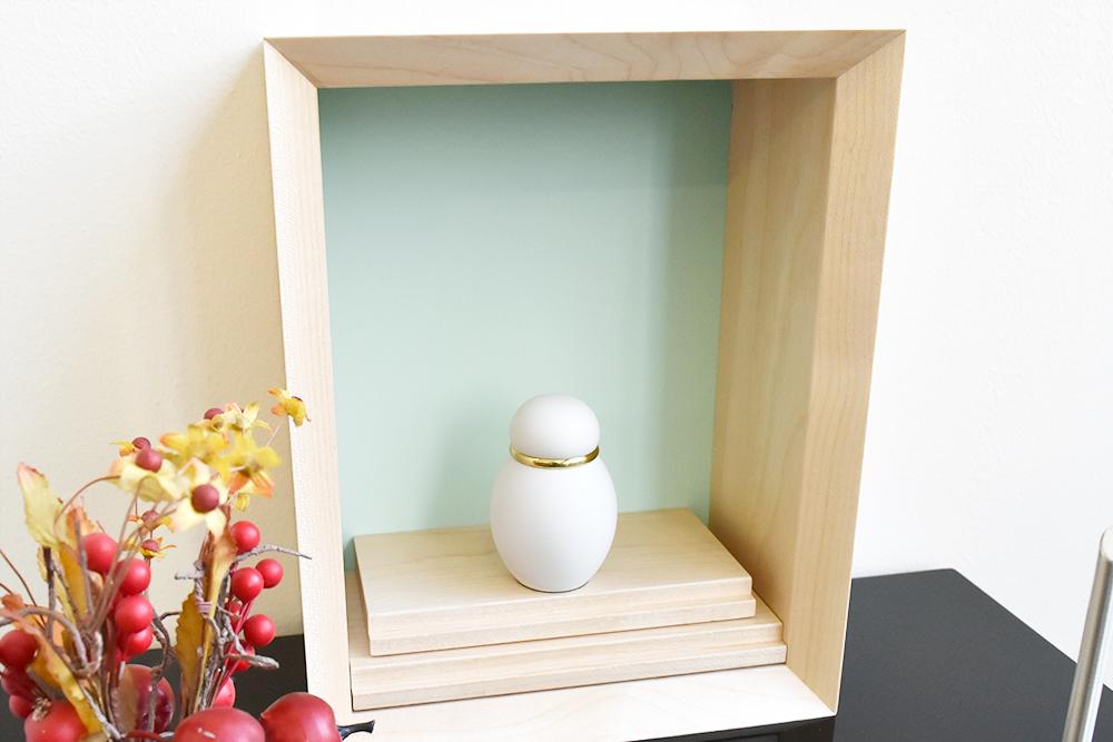 ミニ仏壇|花といのり 厨子(浅緑)
