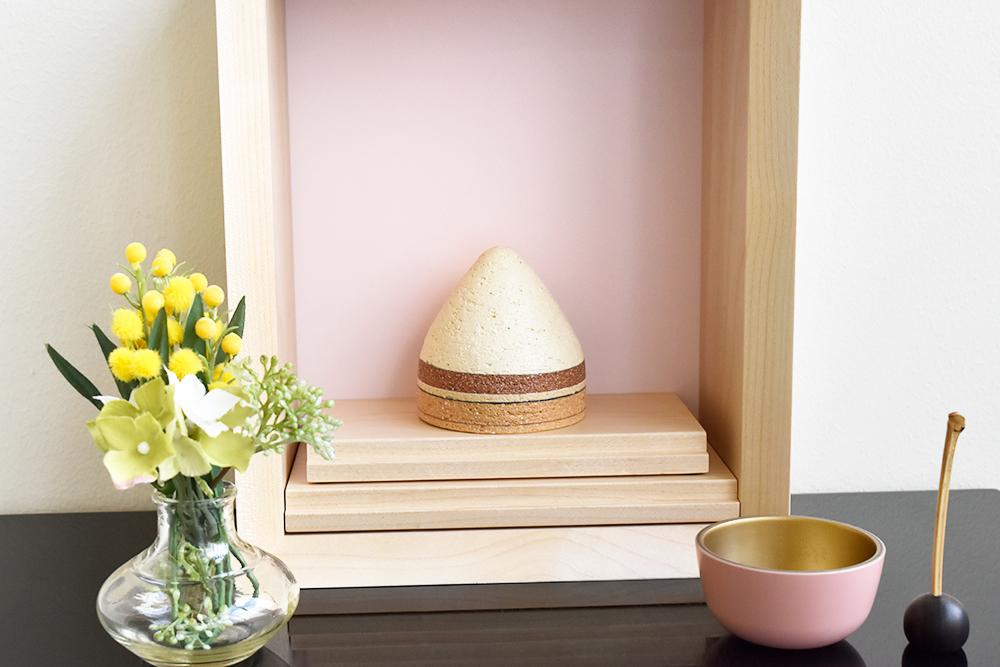 ミニ仏壇|花といのり 厨子(桜)