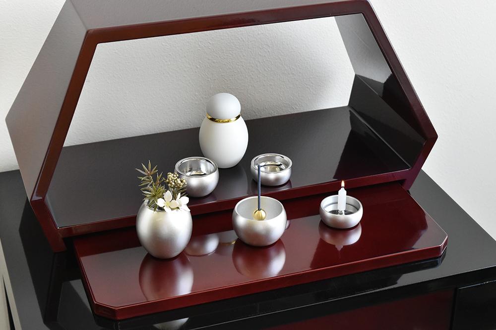 ミニ仏壇 | 祈りのステージ風・茜(漆塗り)