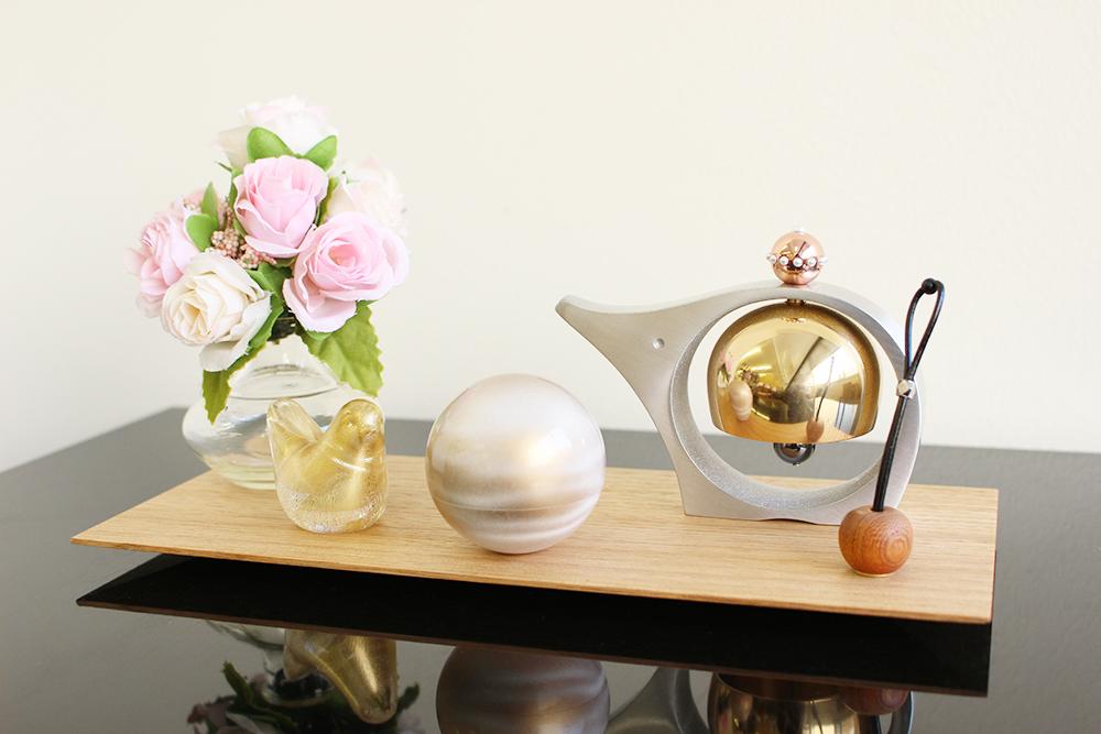 ミニ骨壷 | こころぼし | 白茶(真鍮製)