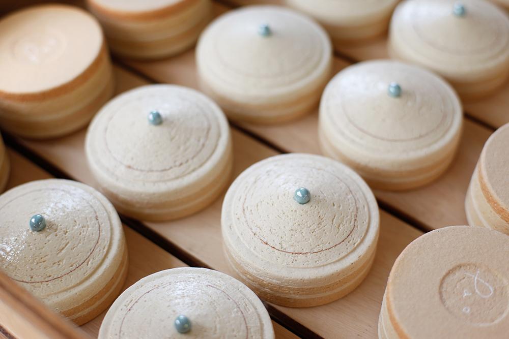 ミニ骨壷|パオPAOシリーズ|ブルー(陶器製)