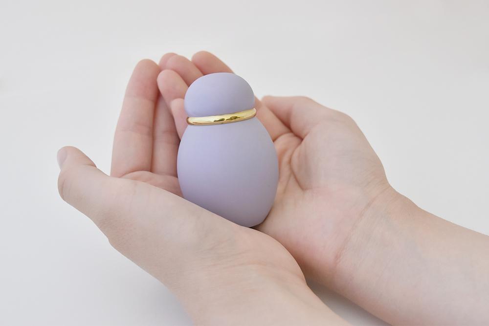 ミニ骨壷|パステル|パープル(真鍮製)