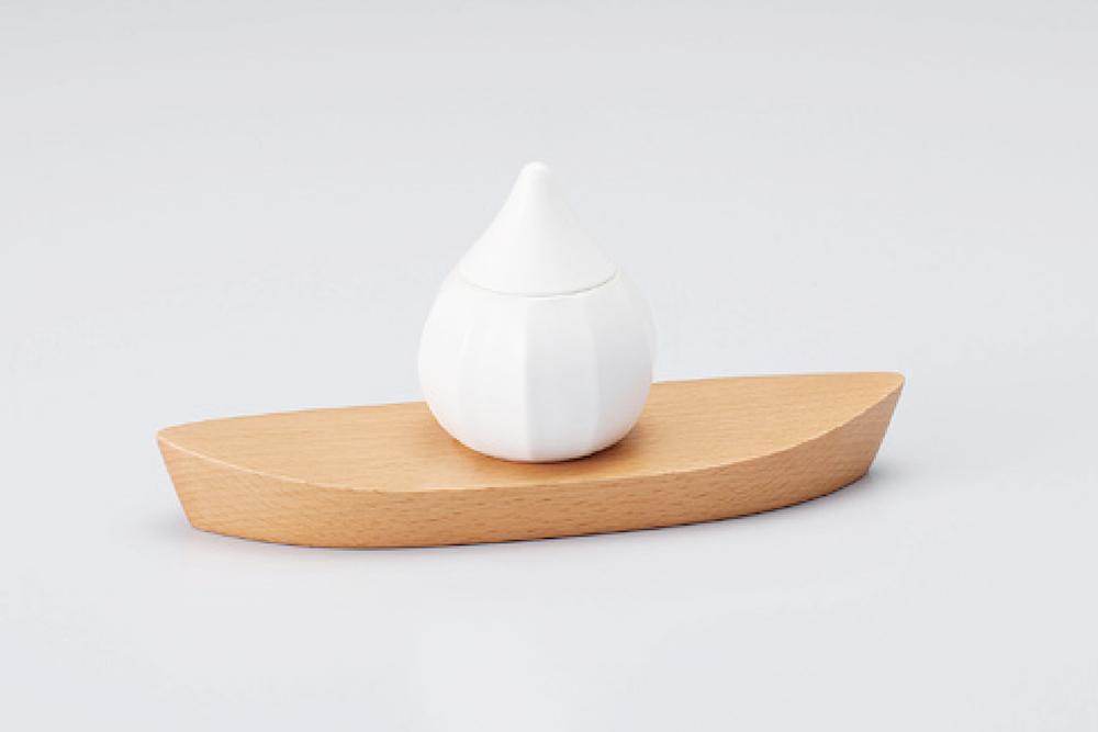 ミニ骨壷|蕾・艶シリーズ|白鳳(豊泉窯・磁器製)